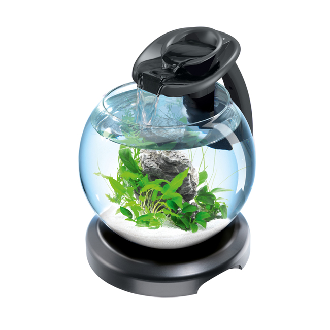 Аквариум Tetra Cascade Globe Duo Waterfall, 6.8л, черный