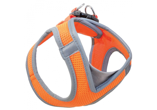 Шлейка-жилетка мягкая, оранжевая XS, обхват груди 32-36 см