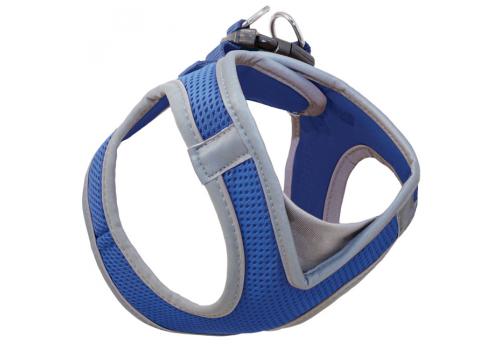 Шлейка-жилетка мягкая, синяя M, обхват груди 41-46 см
