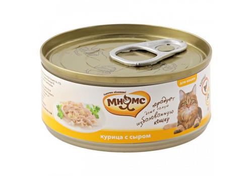 Консервы Мнямс для кошек Курица с сыром в нежном желе 70г