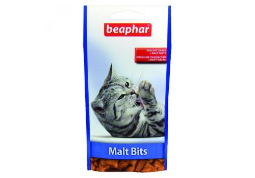 Beaphar Malt Bits Подушечки для выведения шерсти из желудка 35г