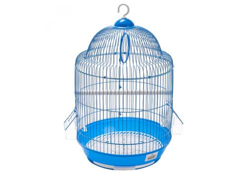 Клетка для птиц цветная круглая 33*54см