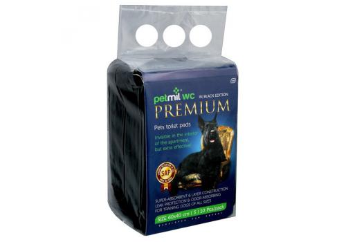 Пеленки PetMil Black Premium впитывающие одноразовые, 60х40 см, 10шт