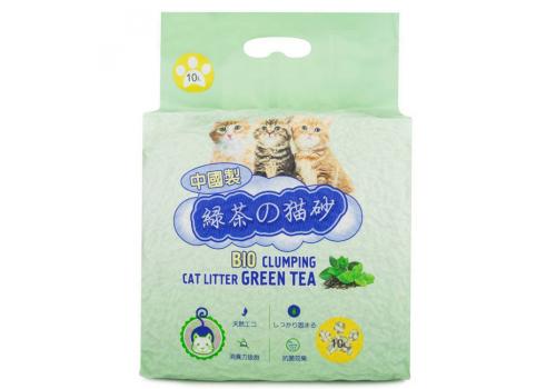Наполнитель Hakase Arekkusu комкующийся, зеленый  чай 10кг