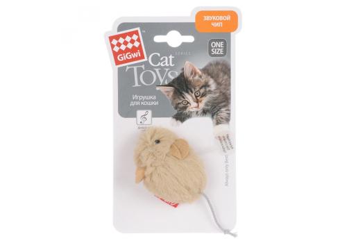 Игрушка для кошек Мышка со звуковым чипом /искуственый мех