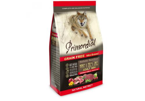 Корм Primordial MINI для собак, беззерновой, кабан/ягненок 2кг
