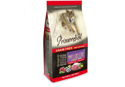 Корм Primordial MINI для собак, беззерновой, сардина/гусь 2кг