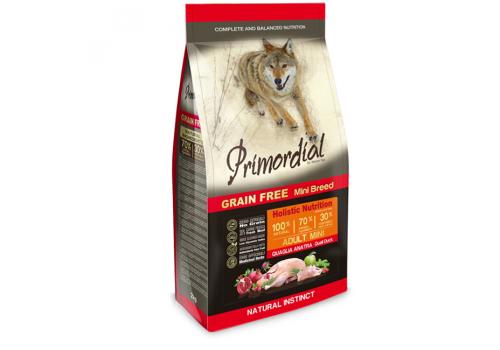 Корм Primordial MINI для собак, беззерновой, утка/ перепел 2кг