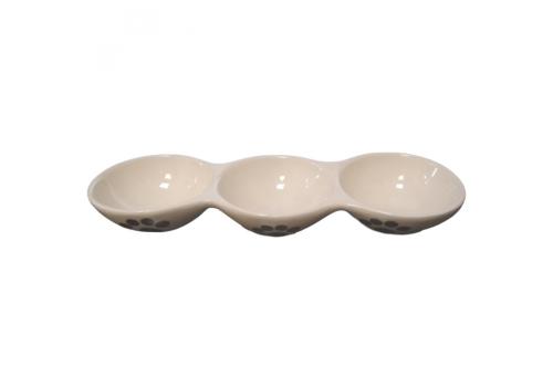 """Миска Lilli Pet """"3 в 1"""", керамика, 28,5х9,5х4 см"""