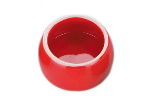 Миска Nobby керамическая, красная, 0,125л