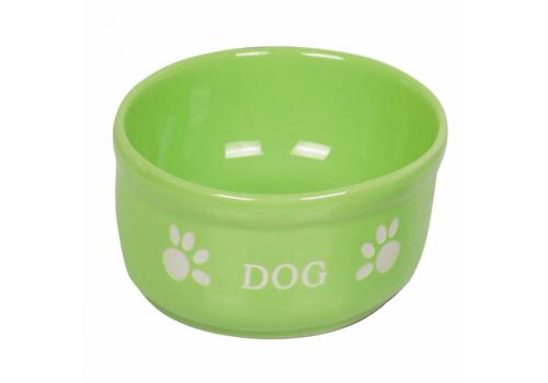 Nobby миска керамическая DOG, салатовая, 460 мл