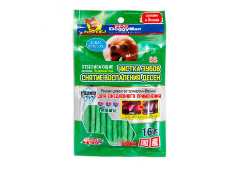 Лакомство Japan Premium Pet Палочки отбеливающие, профилактика зубного камня, размер SS, 16шт