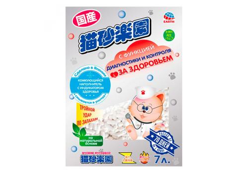 Наполнитель Japan Premium Pet комкующийся, для контроля за здоровьем, 7л