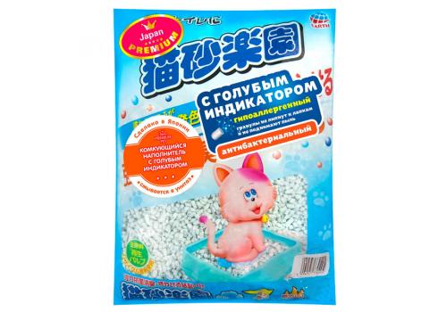 Комкующийся наполнитель Japan Premium Pet целлюлозно-полимерный, с голубым индикатором, 3,5л