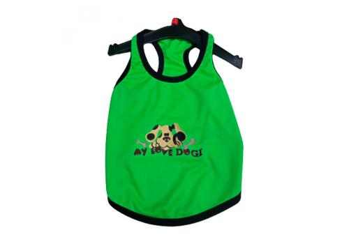 "Футболка DOGI Fashion ""Моя любимая собака"" PAC 018, зеленая, размер 16-20"
