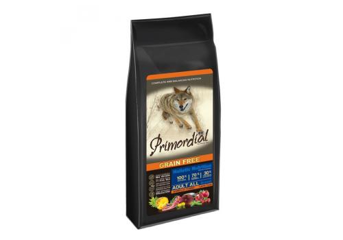 Корм Primordial для собак, беззерновой, тунец/ягненок 400г