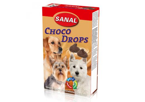 Лакомство Sanal со вкусом шоколада ,из какао ,без теобромина.125г