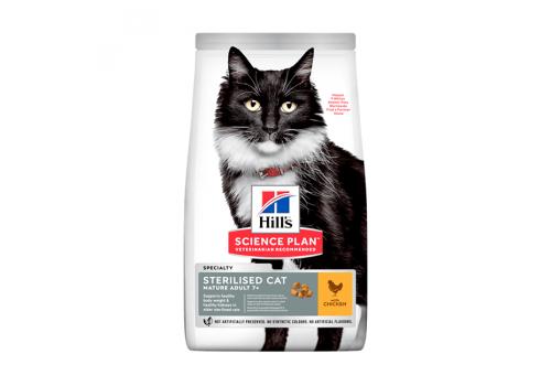 Корм Hill's SP Sterilised Adult 7+ для пожилых стерилизованных кошек 1.5кг