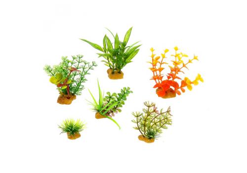 Набор пластиковых растений Prime PR-YS-70402, 6шт