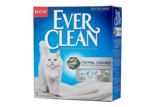 Наполнитель Ever Clean Total Cover комкующийся с силикагелем 6л