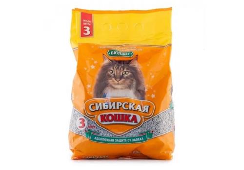 Наполнитель Сибирская кошка Бюджет, впитывающий 3л