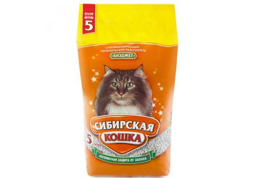 Наполнитель Сибирская кошка Бюджет, впитывающий 5л