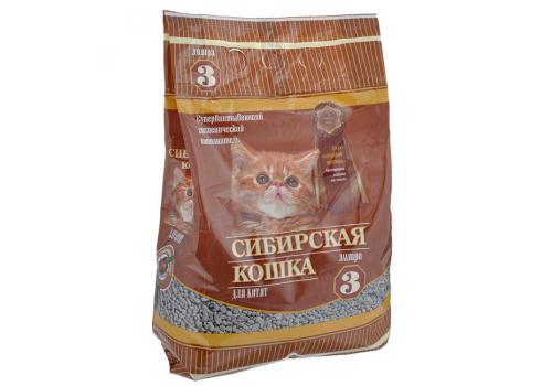 Наполнитель Сибирская кошка для котят, впитывающий 3л
