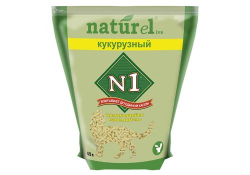 Наполнитель N1 Naturel Кукурузный, комкующийся 4.5л