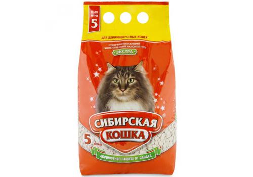 Наполнитель Сибирская кошка Экстра, впитывающий 5л