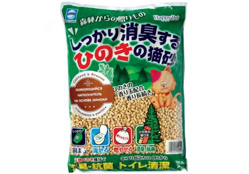Наполнитель Japan Premium Pet древесный с хиноки 7л