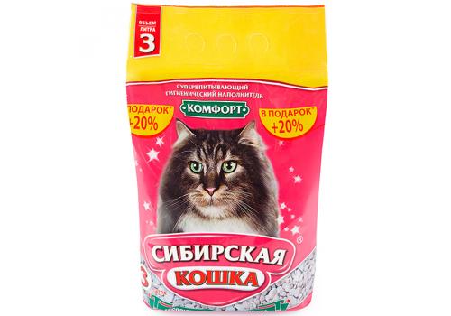 Наполнитель Сибирская кошка Комфорт, впитывающий 3л