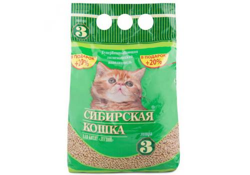"""Наполнитель Сибирская кошка для котят """"Лесной"""" 3л"""
