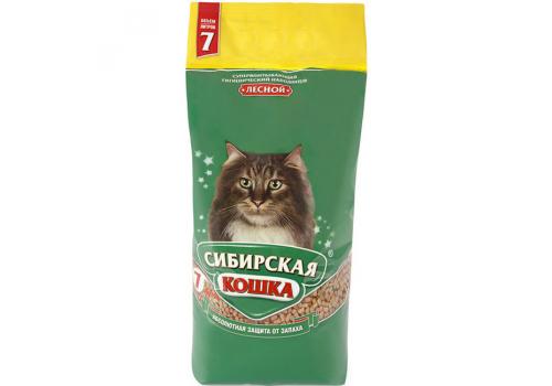 Наполнитель Сибирская кошка Лесной, древесный 7л