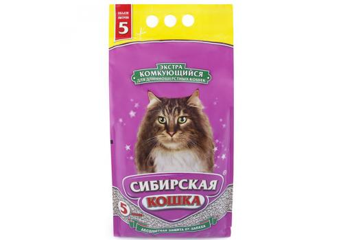 Наполнитель Сибирская кошка Экстра комкующийся 5л