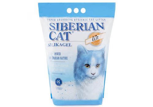 Наполнитель Сибирская кошка Элитный, силикагелевый 8л