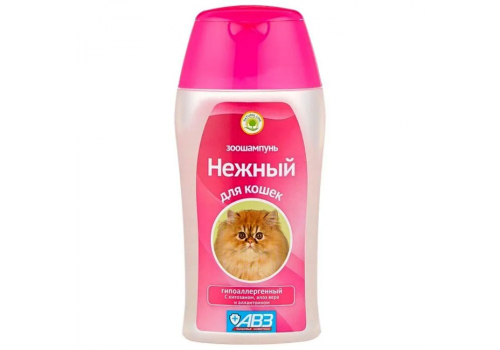 """Шампунь АВЗ """"Нежный"""" для кошек, гипоаллергенный, 180 мл"""