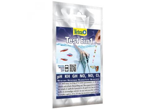 Набор тестов Tetra Test 6 in 1 gH/kH/NO2/NO3/pH/Cl2, полоски 10шт