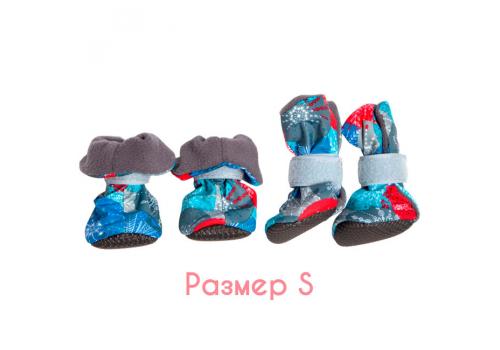 Ботиночки на флисе для собак OSSO Fashion, подошва ЭВА, размер S