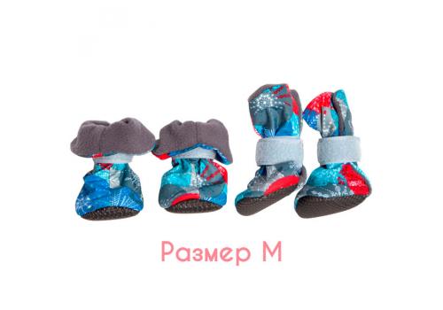 Ботиночки на флисе для собак OSSO Fashion, подошва ЭВА, размер М