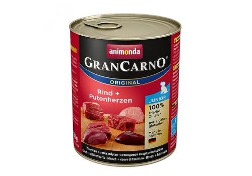 Консервы Animonda Gran Carno Original Junior для щенков, с говядиой и сердцем индейки 800г