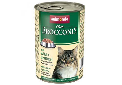 Консервы Animonda Brocconis Cat для кошек с дичью и домашней птицей, 400г