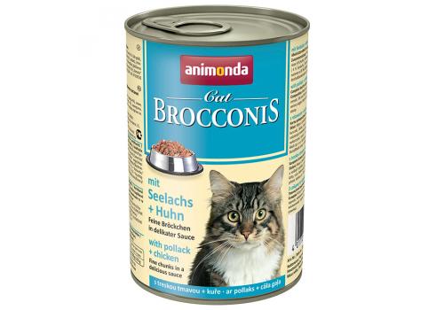 Консервы Animonda Brocconis Cat для кошек с сайдой и курицей, 400г