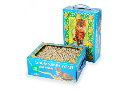 Одноразовый туалет «Любимый кот - без хлопот!»