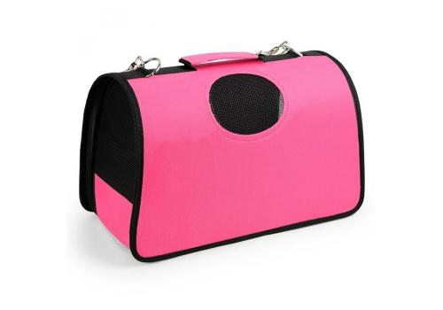 Переноска Lilli Pet Roma М для  собак, 43х22х26см розовая