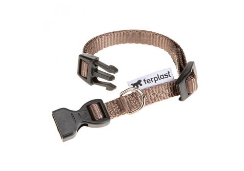 Ошейник Ferplast Club C10/25 с пластик.креплением коричневый