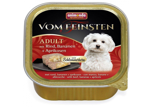 Консервы Animonda Vom Feinsten Adult для собак, с говядиной ,бананом и абрикосами 150г