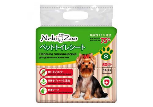 """Пеленки Maneki """"NekiZoo"""" гигиенические для животных, S, 33х45 см, 50 шт"""