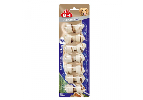Лакомство 8in1 Delights Beef XS косточки с говядиной для мелких собак 7.5см 7шт