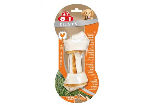 Лакомство 8in1 Delights M косточка с куриным мясом для средних собак 14.5 см