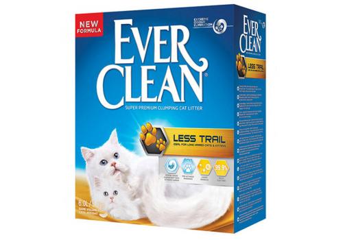 Наполнитель Ever Clean Less Trail для котят и длинношерстных кошек 6л
